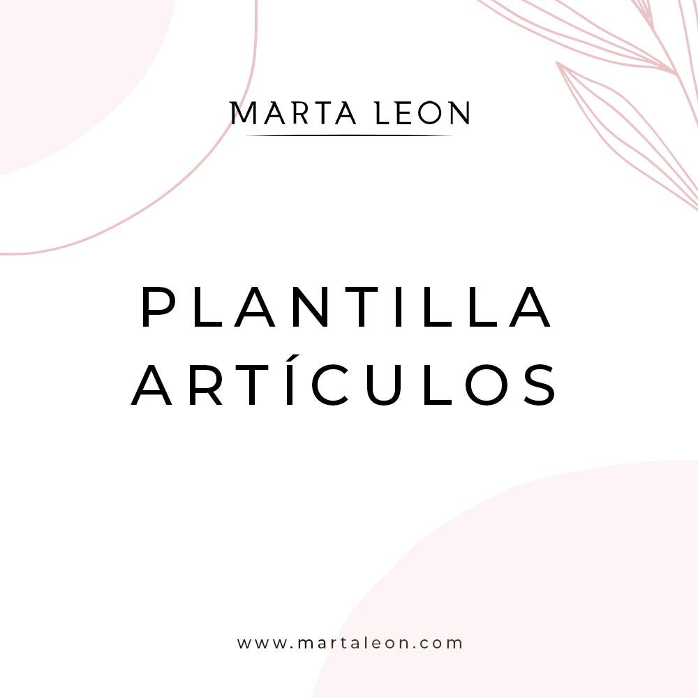 Plantilla Artículos